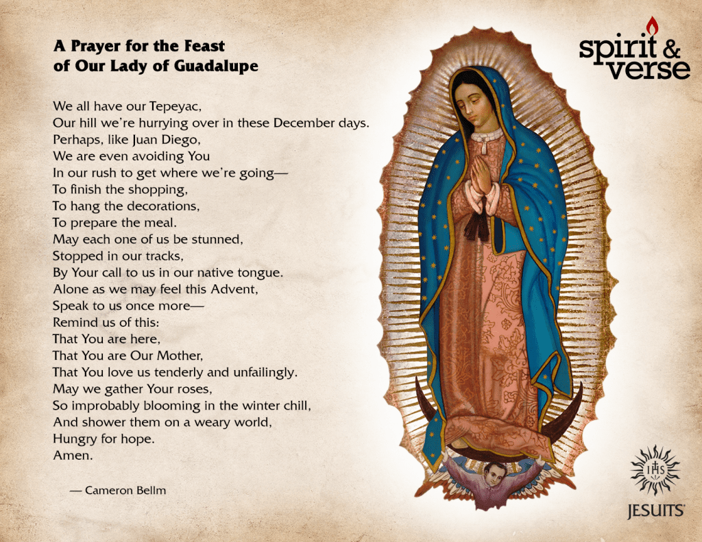A Prayer for the Feast of Our Lady of Guadalupe